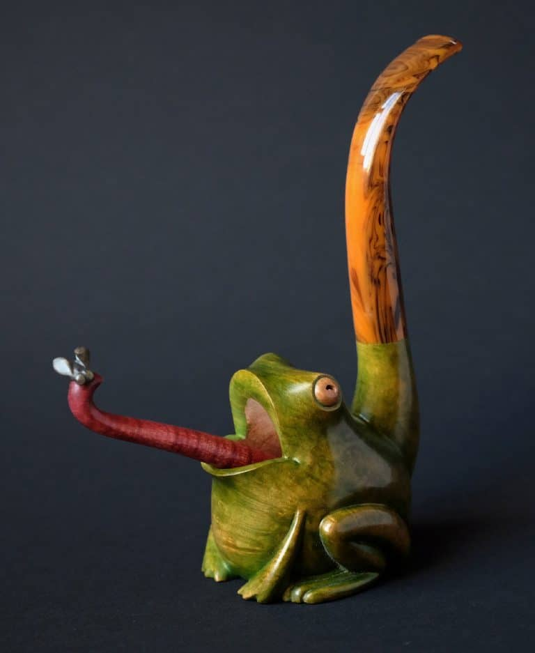 "Tabakpfeife mit Stampfer ""Frog pipe 2"""