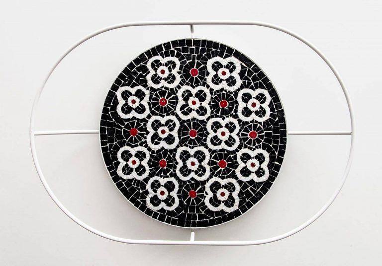 "Mosaik ""Flore, black tray"""