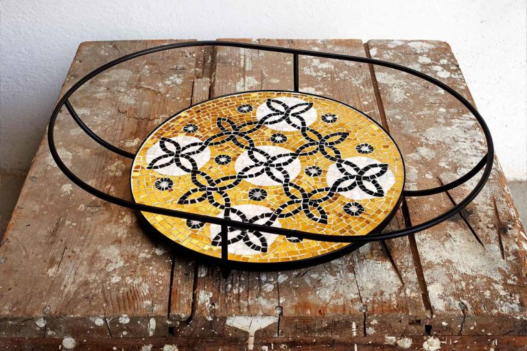 "Mosaik ""Flore, golden tray"""
